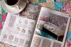 Revista labores del Hogar con varias colchas de patchwork de Patch Creatures