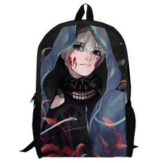 CosEnter Anime Tokyo Ghoul Logo New Backpack Student Bag Cosplay B Style ** For more information, visit image link.