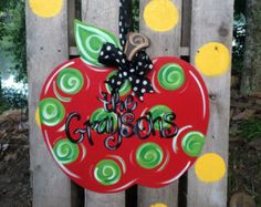School Nurse Apple Door Hanger  Hanger Doors And Apples