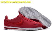 the best attitude 085f4 3e054 Kopen Nike Classic Cortez Nylon Heren Loopschoenen Borduurwerk Rood