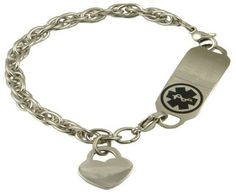 Stainless Steel Medical ID Bracelet Twisted by StylishMedicalID