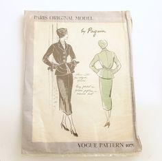 Vogue Paris Original 1079 by Paquin | Suit Dress