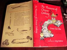 The Pleasures of Chinese Cooking by Grace Zia Illustrated by Grambs Miller Vintage Cookbook by VintageEves on Etsy