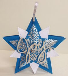 Kathryn's Stampin' World: Merry Monday Christmas Challenge #134 - Bright & Beautiful Star Ornament