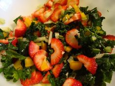 Kale and Strawberry Salad!! BY: Melissa Kucharski for the FullyRawKristina Recipe Competition!!