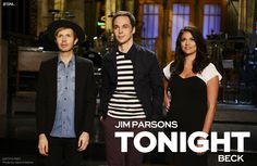 Jim Parsons hosts an all-new Saturday Night Live with musical guest Beck tonight! #SNL