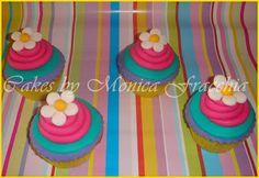 PONQUESITOS DECORADOS / CUP CAKES FLORES | TORTAS CAKES BY MONICA FRACCHIA