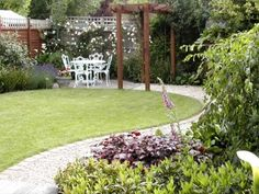 Outside garden with seating area