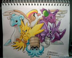 Go team!!! Learning how to use Copic markers. #twitchplayspokemon #pokemon #tpp #copic #micron