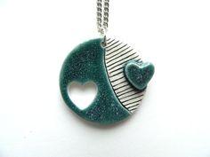 Ceramic necklace ceramic pendant necklace geometric by islaclay