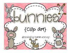 bunnies:  clip art {free}