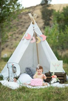 Wild one birthday party teepee