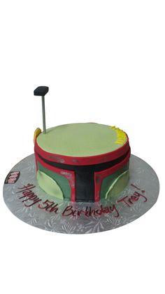 Boba Fett Star Wars Birthday Cake