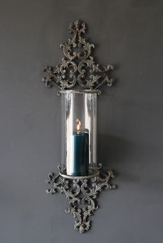 Metal Filigran Candle Wall Sconce - Candles & T Light Holders - Home Accessories