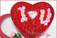 Hình ảnh những bó hoa đẹp nhất hình trái tim I Love You