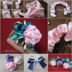 DIY Ribbon Rose Decoration Pen
