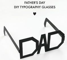 New Birthday Gifts For Dad From Daughter Diy Website Ideas Diy Father's Day Gifts, Father's Day Diy, Gifts For Dad, Fathers Day Crafts, Happy Fathers Day, Funky Glasses, Diy Glasses, Father's Day Printable, Daddy Day