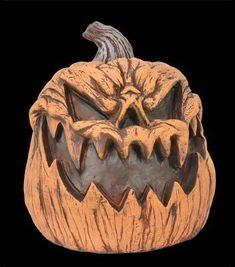 Evil Pumpkin Prop – Distortions Unlimited Halloween Candy Bowl, Halloween Music, Spooky Halloween Decorations, Halloween Pumpkins, Evil Pumpkin, Pumpkin Mask, Scary Pumpkin, Pumpkin Carving, Scary Scarecrow