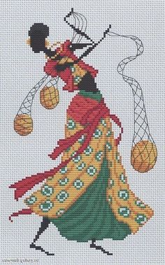 0 point de croix femme africaine avec filets - cross stitch african woman with nets Just Cross Stitch, Cross Stitch Charts, Cross Stitch Patterns, Sewing Art, Sewing Crafts, Cross Stitching, Cross Stitch Embroidery, African Textiles, Crochet Chart