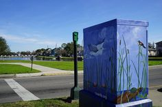 You don't need to go to an art gallery to see beautiful art work in NOLA. We have unique painting on our traffic boxes.