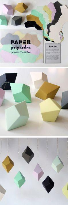 papieren geometrische figuren!Mooi!