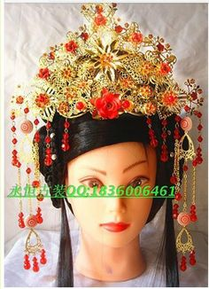 100% new  Han Chinese clothing costume Royal Coronet Coronet theatrical costume bridal headdress hair accessories