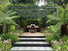 "Garden House Design Hampton Court Palace Flower Show ""live outdoors"" - Low Cost, High Impact Show Garden Pergola Cost, Pergola Plans, Garden Show, Home And Garden, Dream Garden, Outdoor Spaces, Outdoor Living, Hampton Garden, Hampton Court Flower Show"