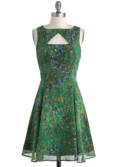Slideshow and Tell Dress, #ModCloth This color is gorgeous, but also this dress is a work of art, and i covet anything with that fit.