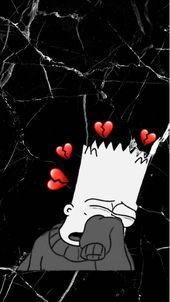 Timeless Black and White Outfits Bart Simpson Crying Marble Wa. - Timeless Black and White Outfits Bart Simpson Crying Marble Wallpaper Black and White Soft Grunge Cute – Source by - Cartoon Wallpaper, Simpson Wallpaper Iphone, Cute Emoji Wallpaper, Mood Wallpaper, Cute Disney Wallpaper, Cute Wallpaper Backgrounds, Tumblr Wallpaper, Black Wallpaper, Aesthetic Iphone Wallpaper