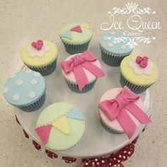 Vintage pastel cupcakes   www.icequeencakes.co.uk