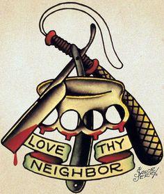 Love thy neighbor #tattoo #piel #shoppiel #inspiration