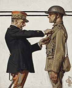 Joseph Christian Leyendecker (1874-1951) Croix de Guerre signed with conjoined initials 'JCLeyendecker' (lower right) oil on canvas 22 x 18 in. (55.9 x 45.7 cm.) Painted circa 1918.