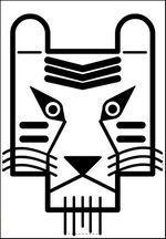 Masques de carnaval masque de tigre pour enfant mardi-gras