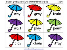 FREE Long a-Patterned Word Sort {ai and ay} - This Reading Mama First Grade Phonics, Teaching First Grade, First Grade Reading, Spelling Worksheets, Spelling Patterns, Reading Centers, Literacy Centers, Speech And Language, Language Arts