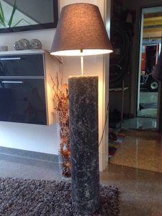 ...design & wein...: Wohnraum-Stehleuchten aus Stein
