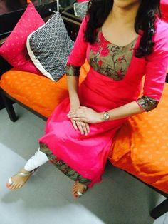 Different types of kurtis designs - Easy Craft Ideas Salwar Neck Designs, Churidar Designs, Kurta Neck Design, Kurta Designs Women, Dress Neck Designs, Blouse Designs, Salwar Pattern, Kurta Patterns, Suit Pattern