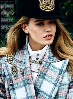 Georgia May Jagger by Lachlan Bailey for Vogue Paris August 2013 | The Fashionography