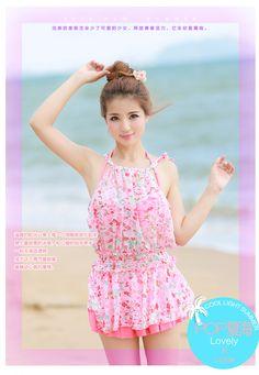 db0f0f56368b7 Swimsuit Swimwear Set Bikini Top + Swim Skirt + Floral Cover Up Beach Dress