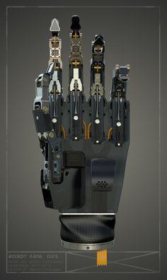 Robot arm , Maksim Ponomarev on ArtStation at https://www.artstation.com/artwork/YJEeP