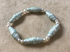 Paper Bead Jewelry, Paper Beads, Beaded Jewelry, Handcrafted Jewelry, Unique Jewelry, Marketing And Advertising, Turquoise Bracelet, Trending Outfits, Search