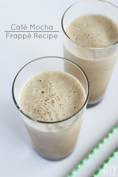 Cafe Mocha Frappe Recipe And Mocha Frappe Recipe For Kids - Cafe Mocha Frappe Recipe Ingredients Makes One Glass Coffee Ice Cubes To Make Coffee Ice Cubes Pour Your Favorite Coffee In An Ice Cube Tray And Place It In The Freezer Until Frozen Healthy Coffee Drinks, Coffee Drink Recipes, Easy Drink Recipes, Yummy Drinks, Fun Drinks, Mocha Frappe Recipe, School Lunch Recipes, Kids Cafe, Frozen Coffee