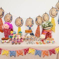 Com materiais simples, é possível fazer um aniversário com tema junino