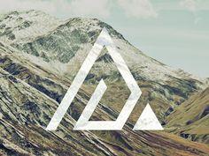 mountain icon - drent und herent - Re-Wilding Logo Esport, Logo Branding, Branding Design, Graphisches Design, Icon Design, Graphic Design, Outdoor Logos, Paper Collage Art, Bussiness Card
