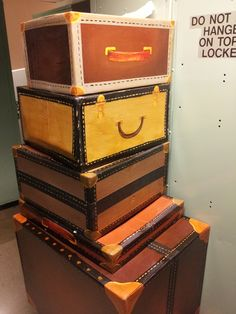 Hand Painted Cardboard Luggage Ready For Their Journey To The Bg Windows Harry Potter
