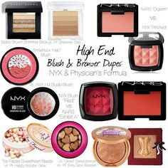 High End Blush & Bronzer Dupes