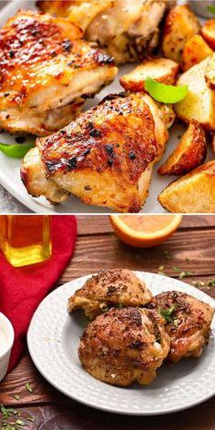 Best Bone In Chicken Breast Recipe, Baked Bone In Chicken, Best Baked Chicken Recipe, Best Chicken Dishes, Great Chicken Recipes, Baked Chicken Breast, Easy Oven Baked Chicken, Crusted Chicken, Cooking Recipes
