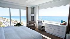 This is the view of the Atlantic Ocean and the North Atlantic Boulevard in Fort Lauderdale, from B Ocean's King Corner Room. If only we could wake up every morning to this view.