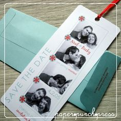 LOVE the idea of photo booth save the date cards!!!