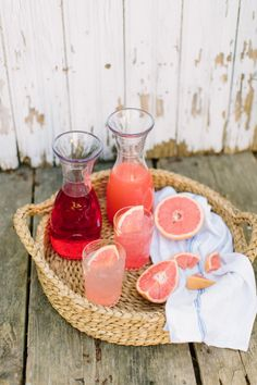 Summer Sea Breeze Cocktail, a mix of cranberry and grapefruit juice and vodka/ Photography: Erin McGinn - erinmcginn.com