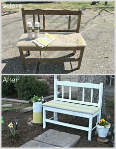 Tattered and Inked: Garden Bench Redo
